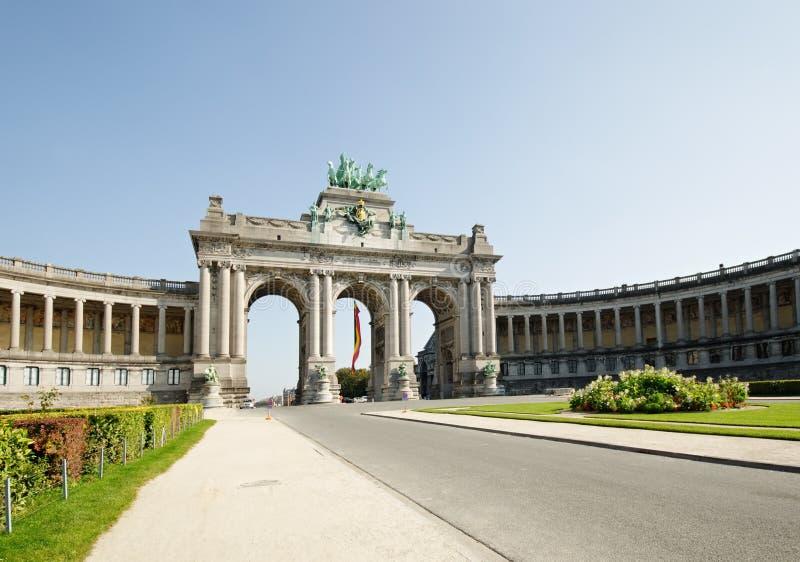 Voûte de triomphe à Bruxelles photographie stock