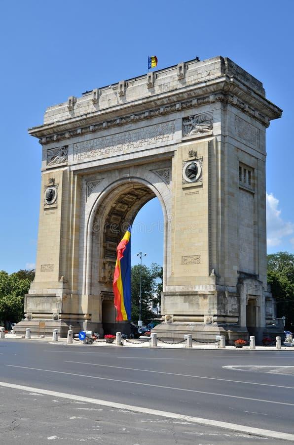 Voûte de triomphe, Bucarest, Roumanie photo stock