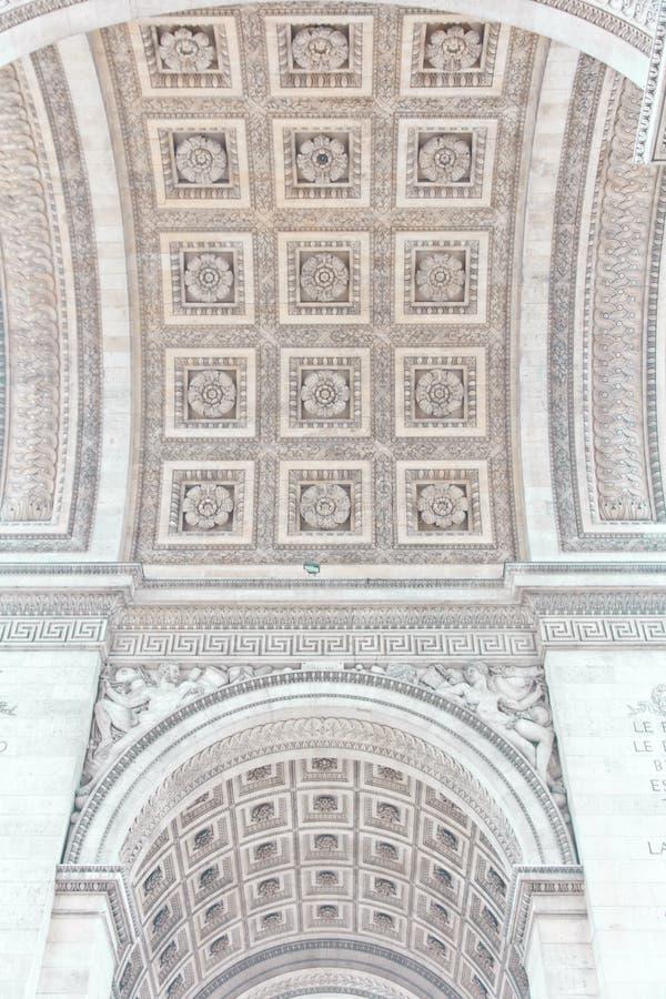 Voûte de triomphe de Paris, France image libre de droits