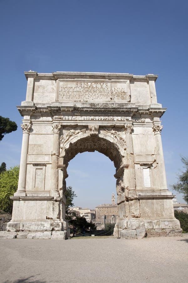 Voûte de triomphe de Rome - de Titus photos libres de droits
