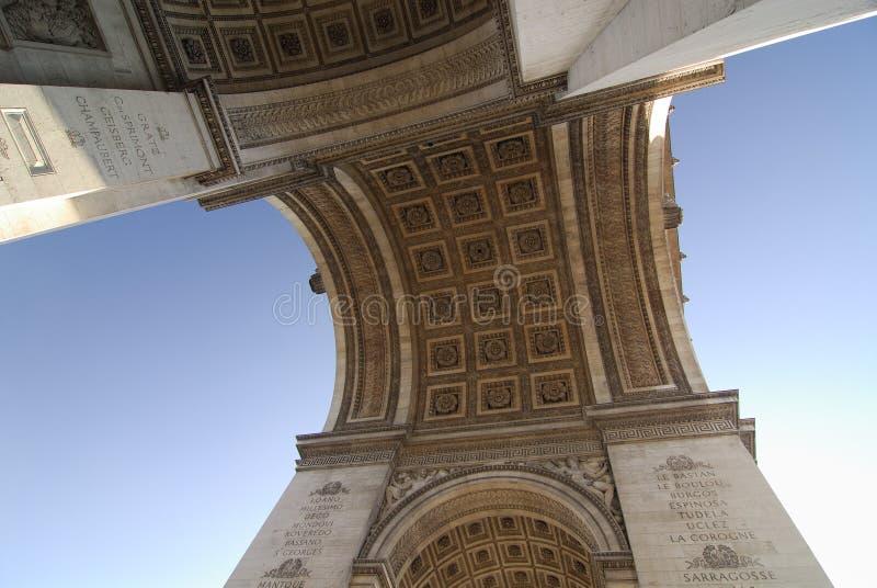 Voûte de triomphe Paris photo libre de droits