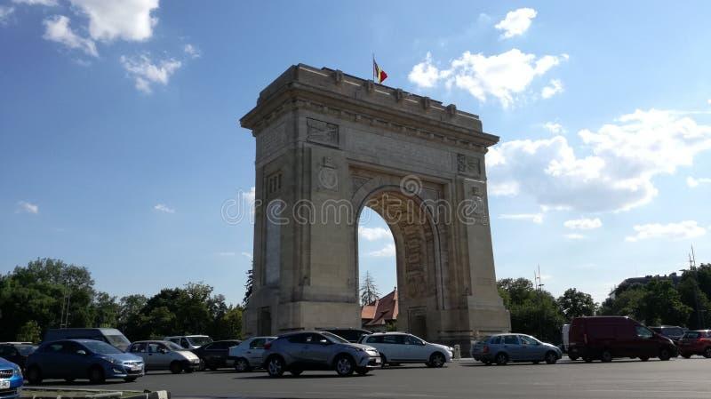 Voûte de Triumph de Bucarest images libres de droits
