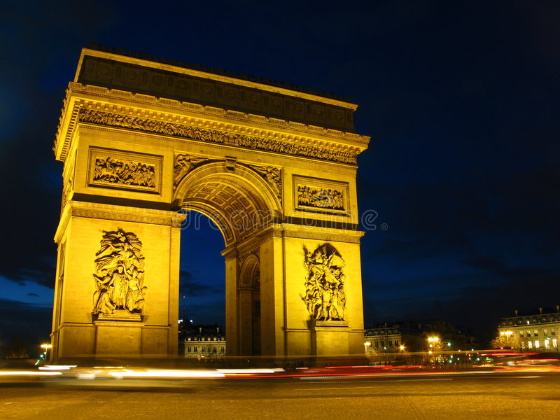 Voûte du triomphe 01, Paris, franc photo libre de droits