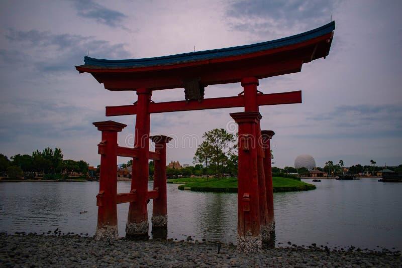 Voûte japonaise dans Epcot chez Walt Disney World photos stock
