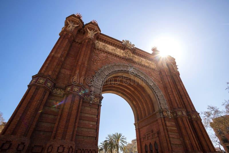 Voûte triomphale Barcelone Espagne images libres de droits