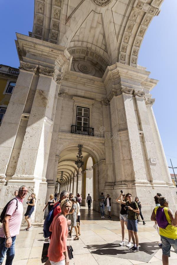 Voûte triomphale de Lisbonne photo stock