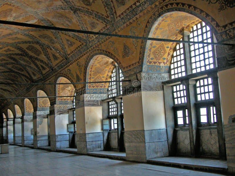 Voûtes décorées dans le Hagia Sophia, Istanbul, Turquie photographie stock