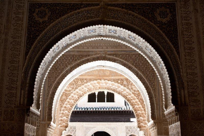 Voûtes d'Alhambra photos libres de droits