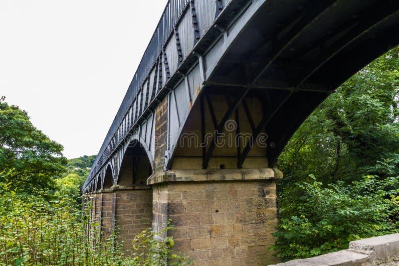 Voûtes de l'aqueduc de pontcysyllte photographie stock libre de droits