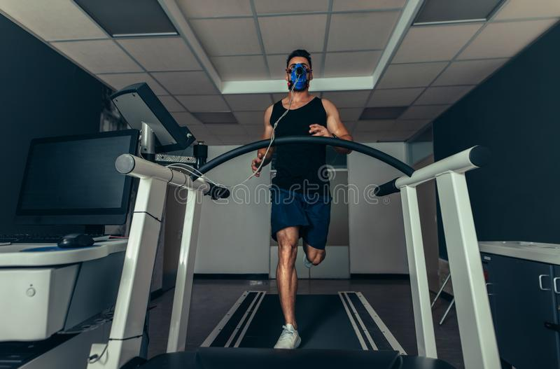 VO2 max test royalty free stock images