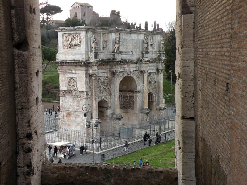 Voûte de Constantine à Rome, Italie image libre de droits