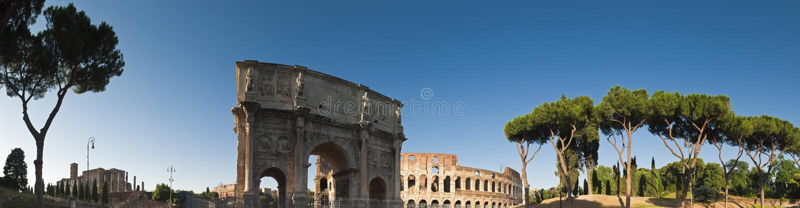 Voûte de Constantine, Colisé, Rome photos libres de droits