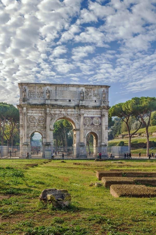 Voûte de Constantine, Rome image libre de droits