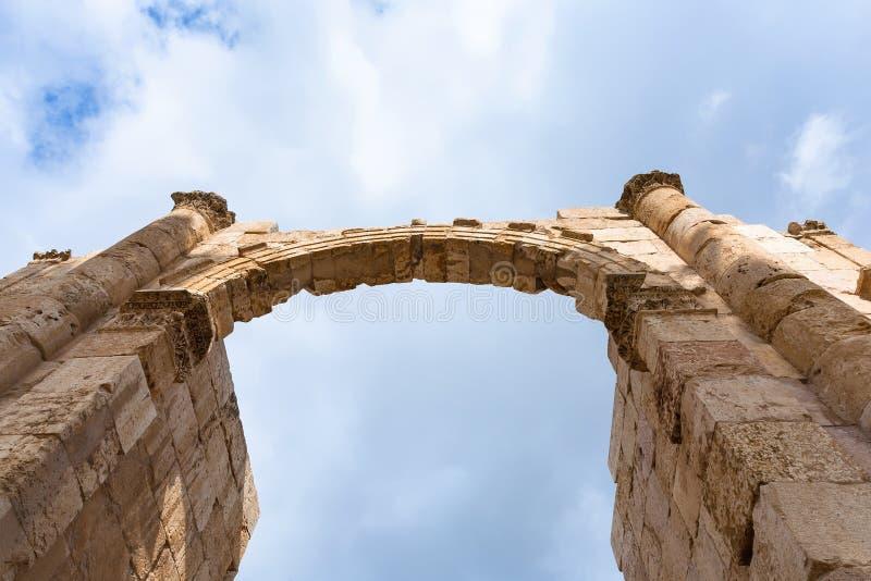 Voûte de porte du sud dans la ville antique de Jerash Gerasa photo libre de droits