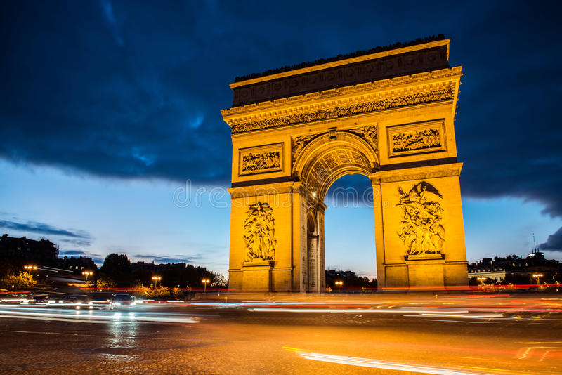 Voûte de Triumph, Paris photographie stock