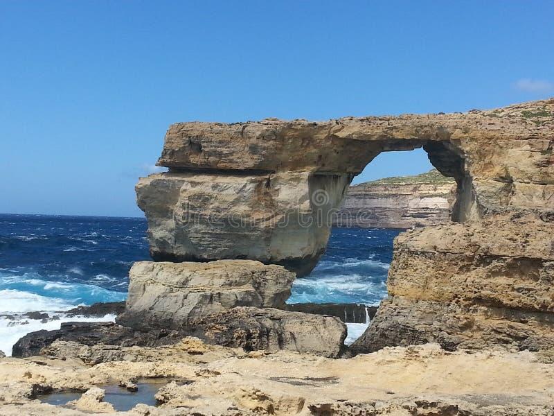 Voûte naturelle 2 de roche - Azure Window photo libre de droits