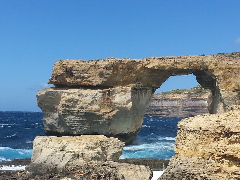 Voûte naturelle de roche - Azure Window photo libre de droits