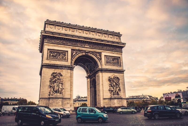 Voûte Paris de triomphe photo stock