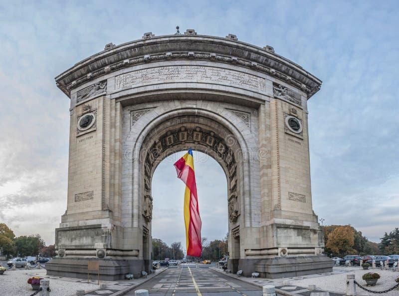 Voûte triomphale à Bucarest photos libres de droits
