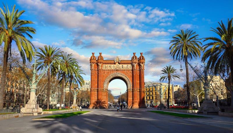 Vo?te triomphale ? Barcelone, Catalogne, Espagne image libre de droits
