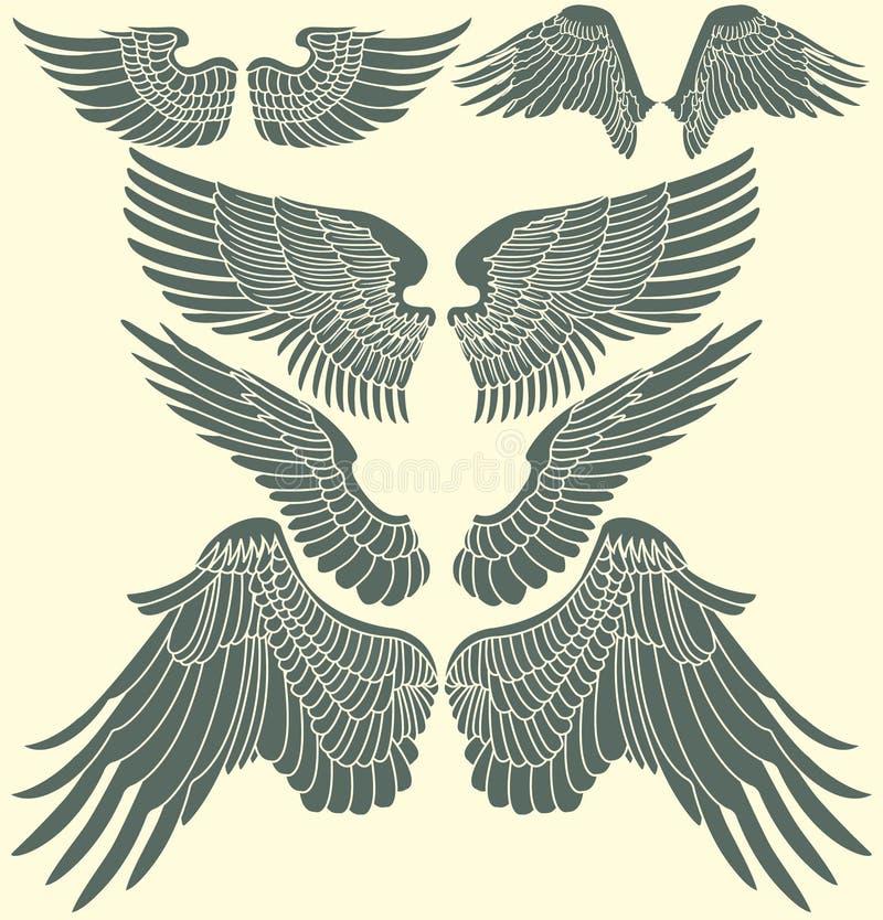 Voa o grupo tribal ilustração stock