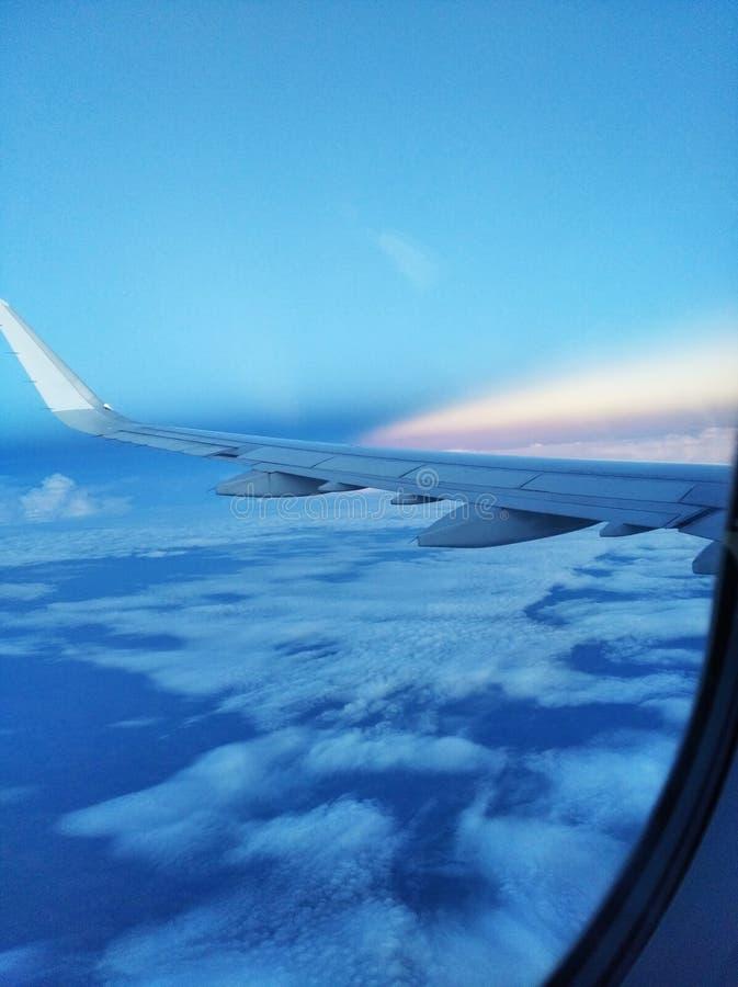 Voando sobre Manaus Brasil para Brasília imagem de stock