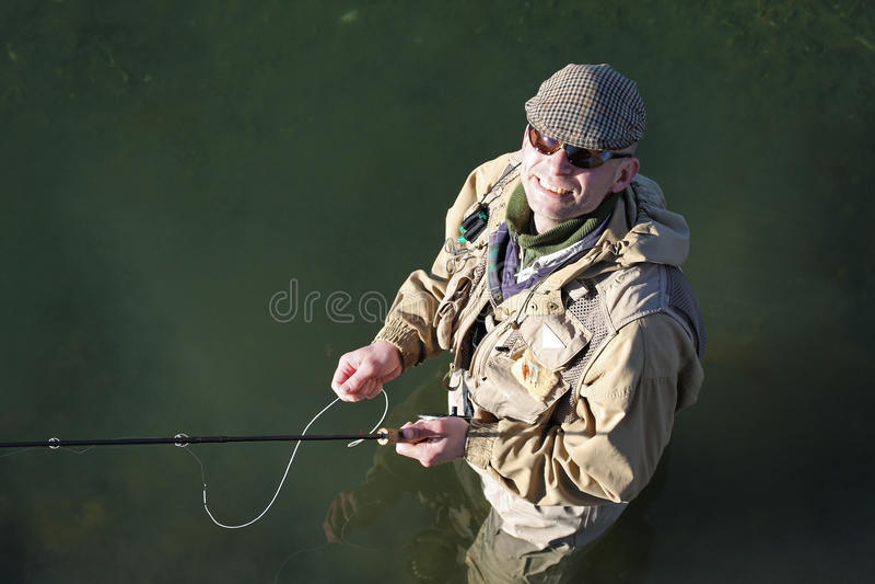 Voar-fisher imagens de stock royalty free