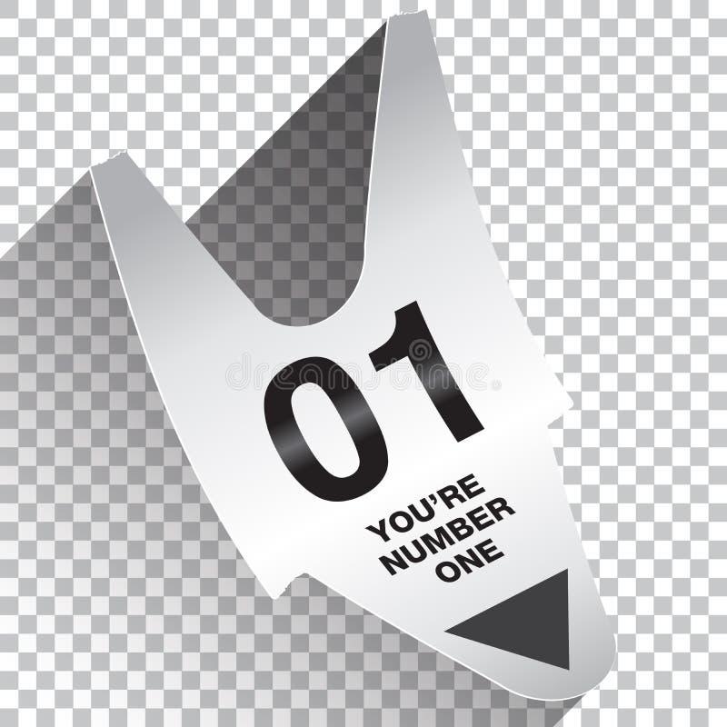 Você é conceito do bilhete do número um ilustração stock
