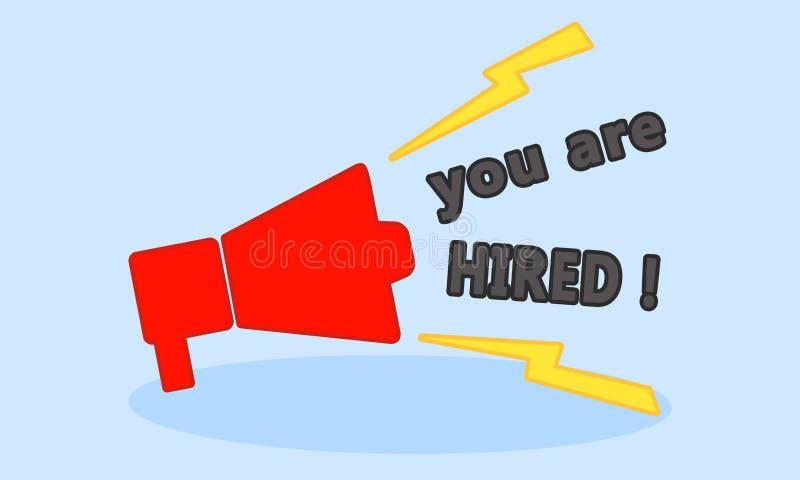 Você é contratado! ilustração do vetor