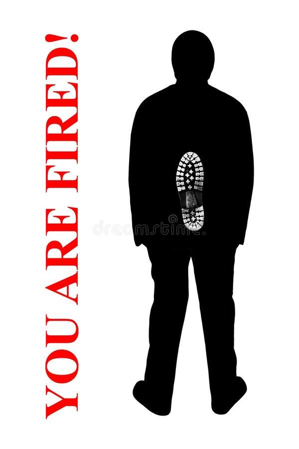 Você é despedido! ilustração royalty free