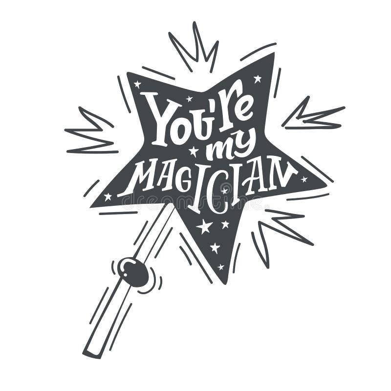 Você é meu magican ilustração royalty free