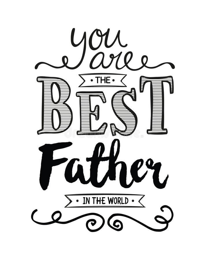 Você é o melhor pai no mundo ilustração stock