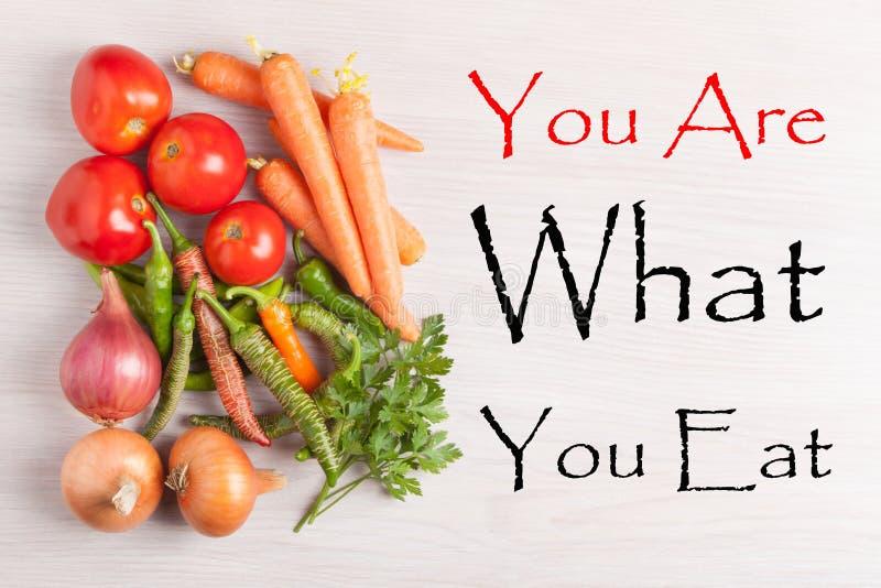 Você é o que você come imagens de stock