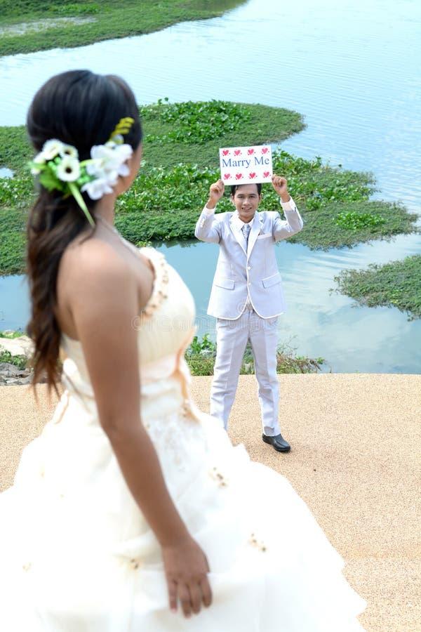 Você casar-me-á fotografia de stock royalty free