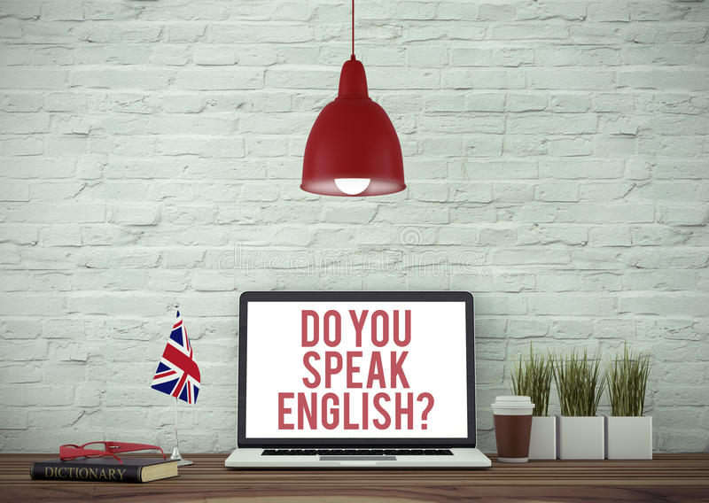 Você fala o inglês? fotografia de stock royalty free