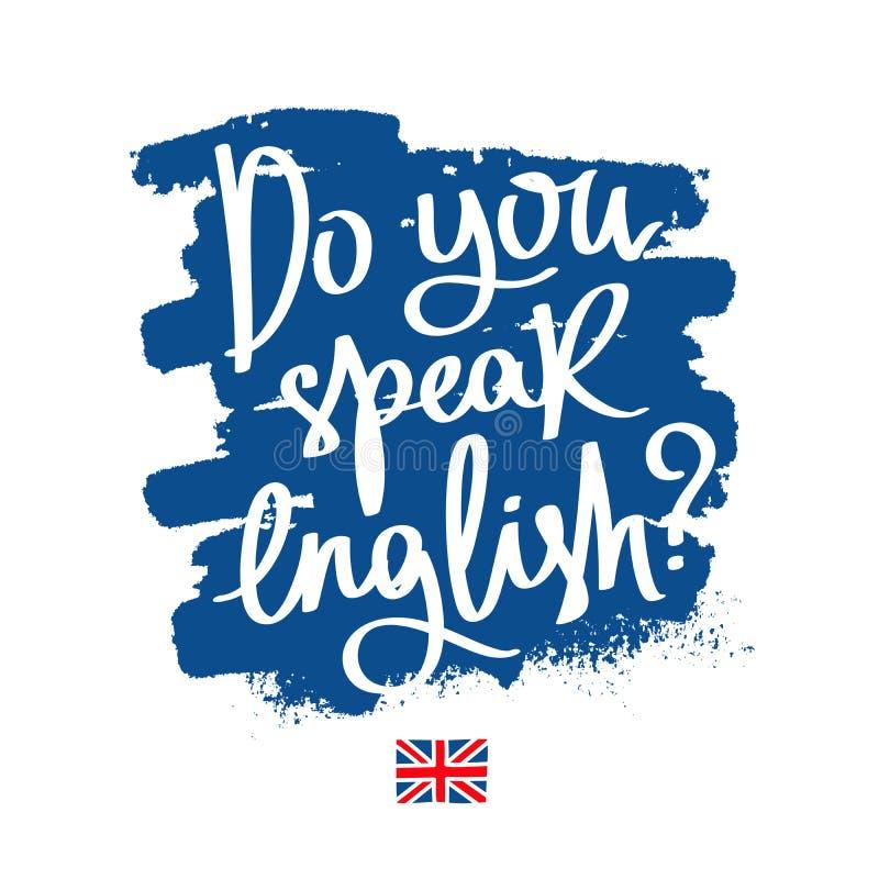 Você fala o inglês? Caligrafia elegante ilustração royalty free