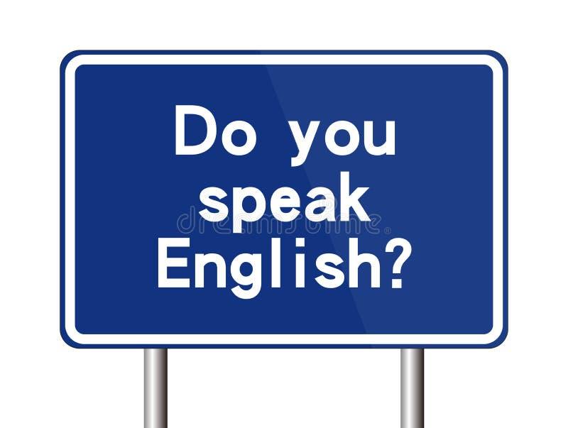 Você fala o sinal inglês ilustração royalty free