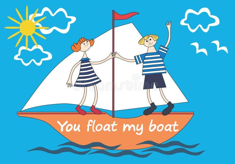 Você flutua meu barco ilustração royalty free