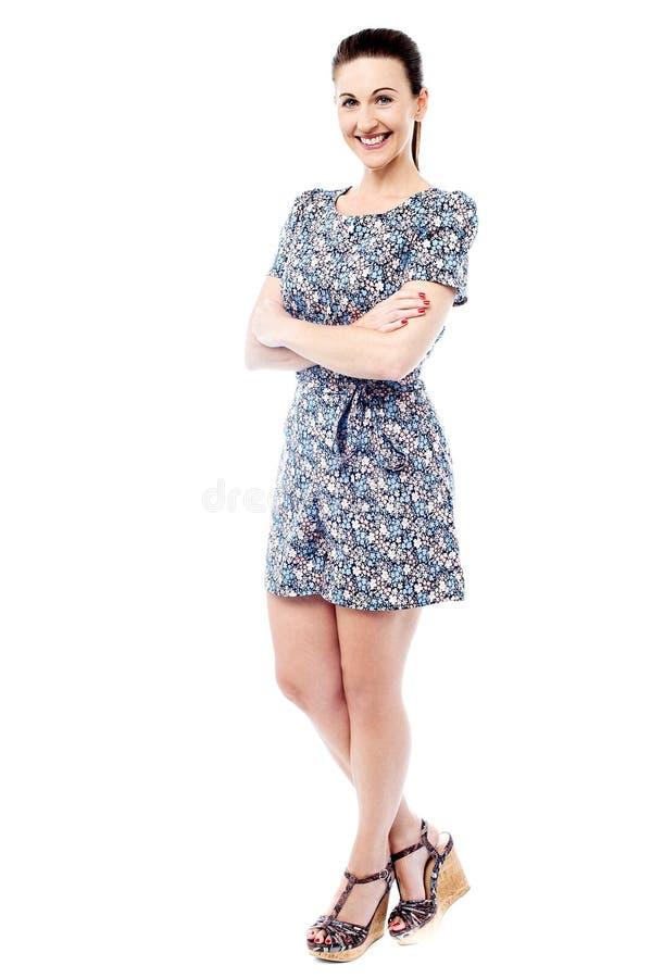Você gosta deste vestido? imagem de stock royalty free