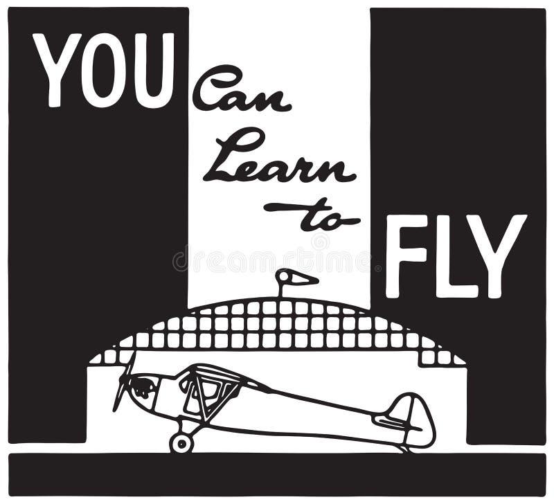 Você pode aprender voar ilustração stock