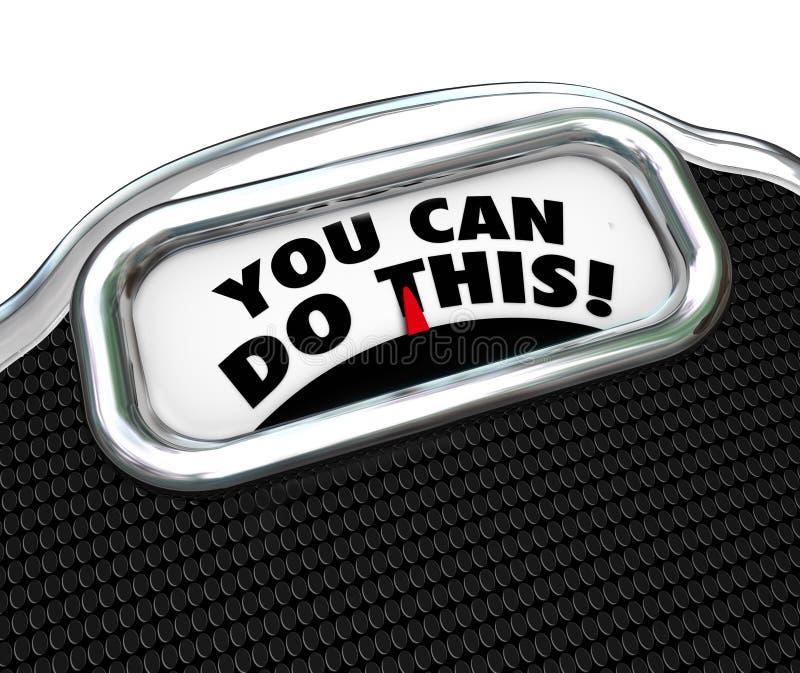 Você pode fazer este palavras o exercício da dieta que da escala perde o peso ilustração stock