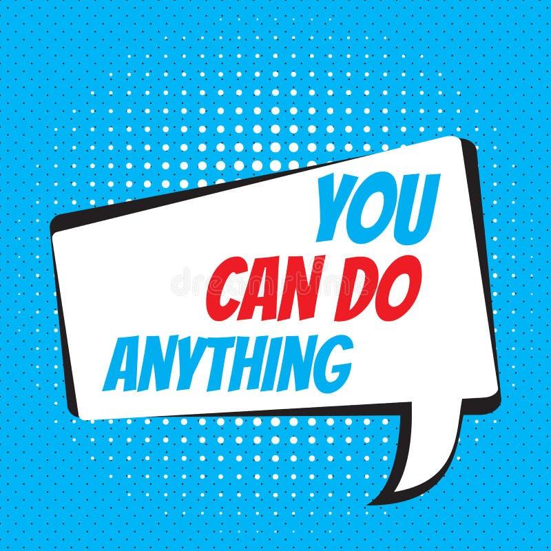 Você pode fazer qualquer coisa Citações inspiradores e inspiradas ilustração stock