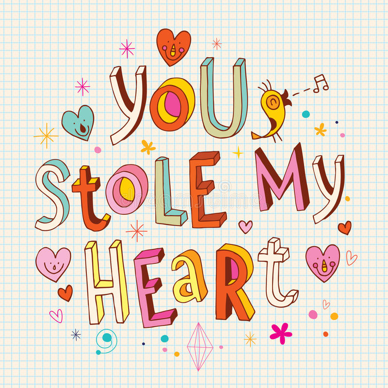 Você roubou meu coração ilustração royalty free