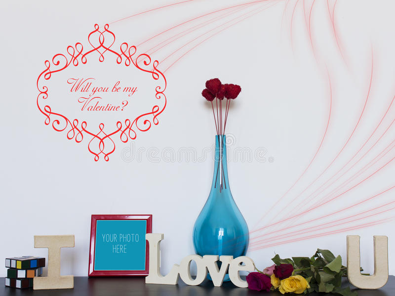 Você será meu Valentim? ilustração do vetor