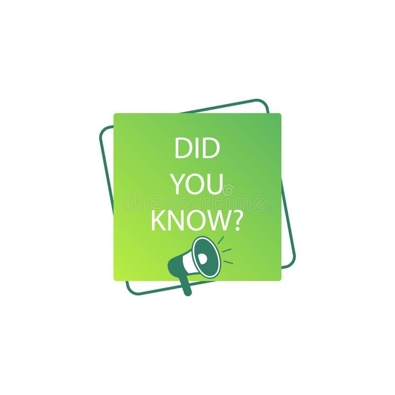 você soube? etiqueta, cor, megafone, ícone verde ilustração royalty free