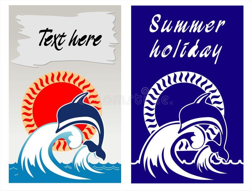 Vocação do verão no beira-mar ilustração do vetor