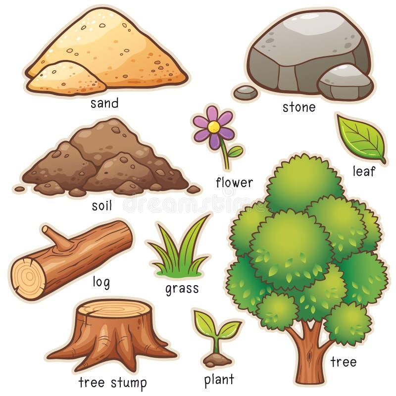 Vocabulario del elemento del dormitorio libre illustration