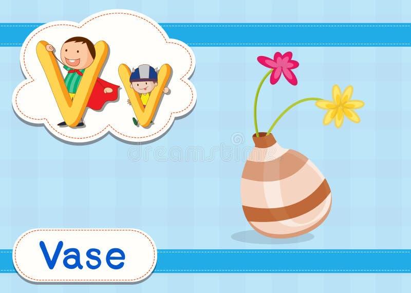 Vocabulary worksheet vector illustration