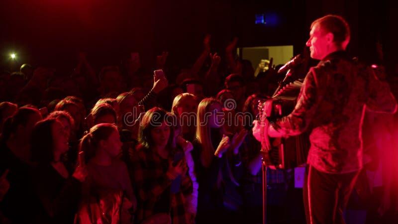 Vocalista e guitarrista ucranianos Oleh Skrypka fotos de stock royalty free