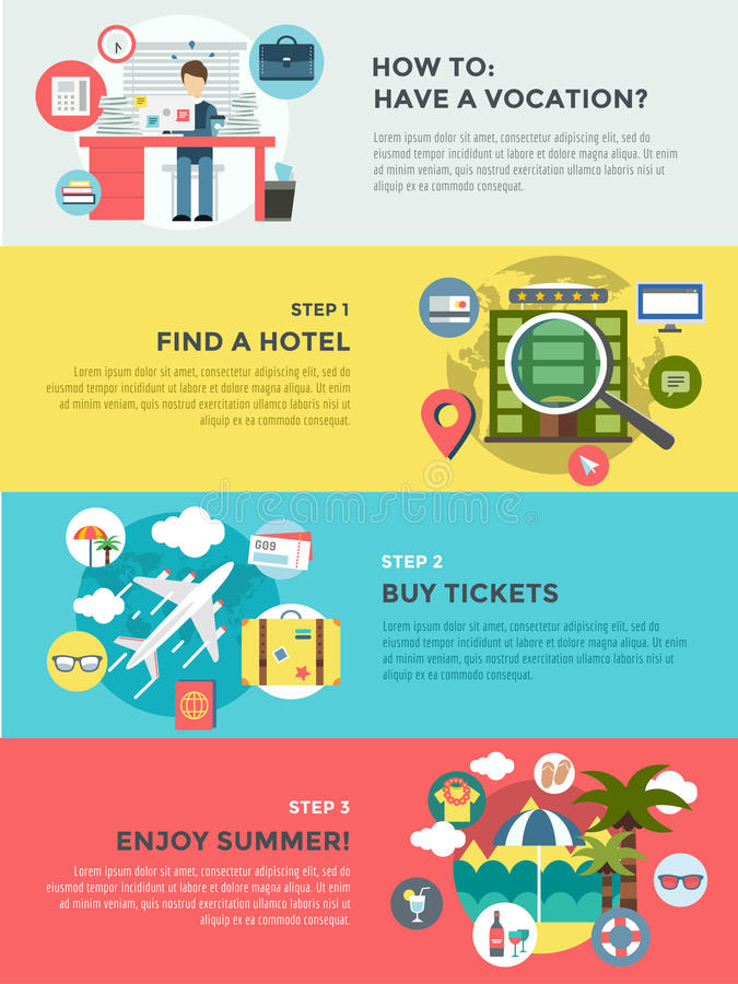 Vocation summer travel infographic. Summer. Holiday and sea. Vector stock illustrations for design vector illustration